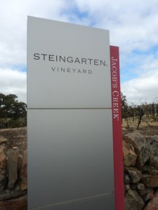 The Jacob's Creek Steingarten Riesling sign