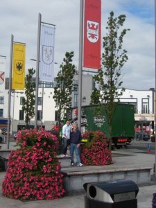My dad and I in Galway under the Joyce flag!